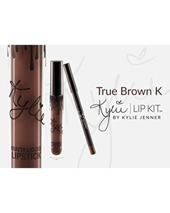 Kylie matte liquid lipstick & lip liner true brown k