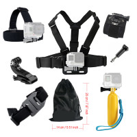 Gopro Accessories Chest Head Strap Monopod Floating Bobber Mount Set